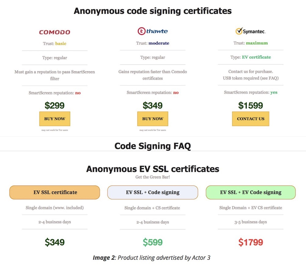 Darknet vendors sell counterfeit tls certificates recorded future found a price menu for fraudulently obtained tls certificates for sale on underground darknet cybercrime market sites 1betcityfo Images