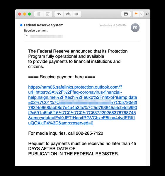 Latest Phishing Campaigns Spoof Federal Reserve Sba