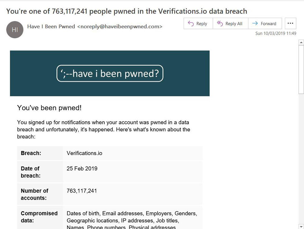 - hibp verifications noticemarch2019 - Breach of 'Verifications.io' Exposes 763 Million Records